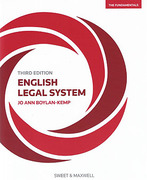 Cover of English Legal System: The Fundamentals