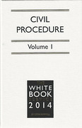 Cover of The White Book Service 2014: Civil Procedure Volume 1 only