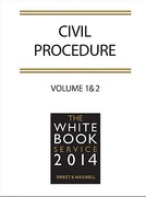 Cover of The White Book Service 2014: Civil Procedure Volume 1: General Procedure & Volume 2: Specific Contracts & Full Contents CD-ROM