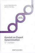 Cover of Kendall On Expert Determination