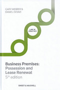 Cover of Business Premises: Possession and Lease Renewal