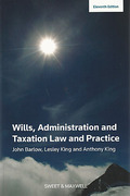 Cover of Wills, Administration and Taxation Law and Practice