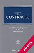 Cover of Chitty on Contracts 31st ed: 2nd Supplement (eBook)