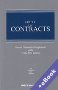 Cover of Chitty on Contracts 31st ed: 2nd Supplement (Book & eBook Pack)