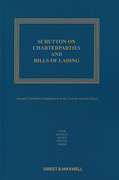 Cover of Scrutton on Charterparties and Bills of Lading 22nd ed: 2nd Supplement