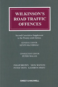 Cover of Wilkinson's Road Traffic Offences 26th ed: 2nd Supplement