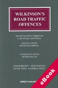 Cover of Wilkinson's Road Traffic Offences 26th ed: 2nd Supplement (eBook)