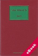 Cover of Archbold: Criminal Pleading, Evidence and Practice 2015 (eBook)