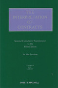 Cover of The Interpretation of Contracts 5th ed: 2nd Supplement