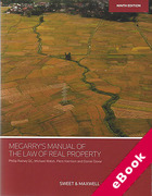 Cover of Megarry's Manual of the Law of Real Property (eBook)