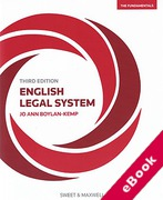 Cover of English Legal System: The Fundamentals (eBook)
