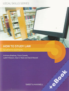 Cover of How to Study Law (Book & eBook Pack)