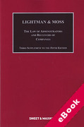 Cover of Lightman & Moss: Law of Receivers and Administrators of Companies 5th ed: 3rd Supplement (eBook)