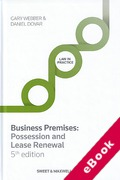 Cover of Business Premises: Possession and Lease Renewal (eBook)