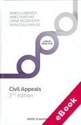 Cover of Civil Appeals: Principle and Procedure (eBook)