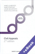 Cover of Civil Appeals: Principle and Procedure (Book & eBook Pack)