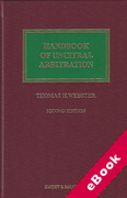 Cover of Handbook of UNCITRAL Arbitration: Commentary, Precedents and Models for UNCITRAL Based Arbitration Rules (eBook)