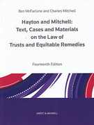 Cover of Hayton and Mitchell: Text, Cases and Materials on the Law of Trusts and Equitable Remedies