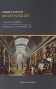 Cover of Hanbury and Martin: Modern Equity