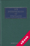 Cover of The Interpretation of Contracts (eBook)