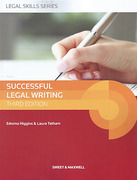 Cover of Successful Legal Writing