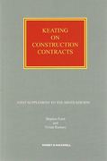 Cover of Keating on Construction Contracts 9th ed: 2nd Supplement