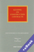 Cover of Keating on Construction Contracts 9th ed: 2nd Supplement (Book & eBook Pack)