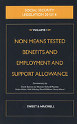 Cover of Social Security Legislation 2015/16 Volume I: Non Means Tested Benefits and Employment and Support Allowance