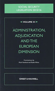 Cover of Social Security Legislation 2015/16 Volume III: Administration, Adjudication and the European Dimension
