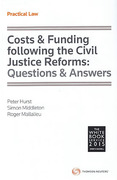 Cover of Costs & Funding following the Civil Justice Reforms: Questions & Answers