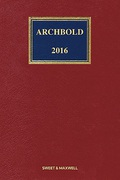 Cover of Archbold: Criminal Pleading, Evidence and Practice 2016