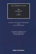 Cover of Dicey, Morris & Collins: The Conflict of Laws 15th ed: 2nd Supplement