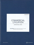 Cover of Commercial Litigation: International Series