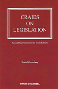 Cover of Craies on Legislation 10th ed: 2nd Supplement