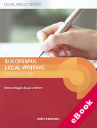 Cover of Successful Legal Writing (eBook)