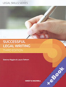 Cover of Successful Legal Writing (Book & eBook Pack)