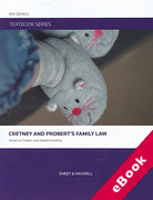 Cover of Textbook Series: Cretney and Probert's Family Law (eBook)