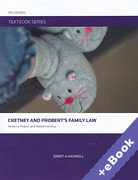 Cover of Textbook Series: Cretney and Probert's Family Law (Book & eBook Pack)
