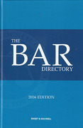 Cover of The Bar Directory 2016