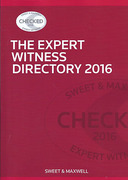 Cover of The Expert Witness Directory 2016