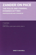 Cover of Zander on PACE: The Police and Criminal Evidence Act 1984