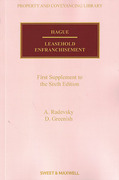Cover of Hague on Leasehold Enfranchisement 6th ed: 1st Supplement