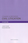 Cover of O'Hare & Browne: Civil Litigation