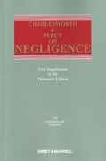 Cover of Charlesworth & Percy on Negligence 13th ed: 1st Supplement