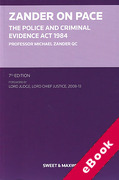 Cover of Zander on PACE: The Police and Criminal Evidence Act 1984 (eBook)