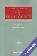 Cover of Charlesworth & Percy on Negligence 13th ed: 1st Supplement (Book & eBook Pack)