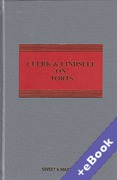 Cover of Clerk & Lindsell On Torts 21st ed with 1st Supplement (Book & eBook Pack)