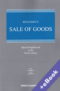 Cover of Benjamin's Sale of Goods 9th ed: Special Supplement (Book & eBook Pack)