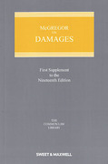 Cover of McGregor on Damages 19th ed: 1st Supplement
