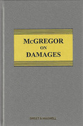 Cover of McGregor on Damages 19th ed with 1st Supplement